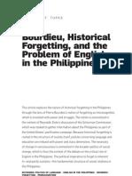 Bourdieu Philippine Studies Final