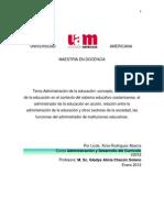 Administración educativa Xinia