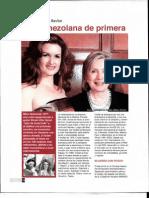 REVISTA FASCINACION - Cristal Montanez Baylor  Una Venezolana de Primera - Publicada el Domingo - Febrero 26 2012 Pages 14-15