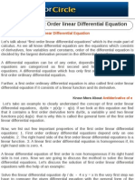 Solution of First Order Linear Differential Equation