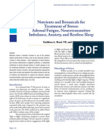 Nutrients and Botanicals For Treatment of Stress- Adrenal Fatigue, Neurotransmitter Imbalance, Anxiety, And Restless Sleep