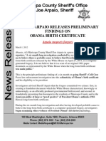Obama's Forged Birth Certificate Arpaio Report