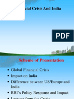 Financial Crisis and India Ppt @ Bec Doms Bagalkot