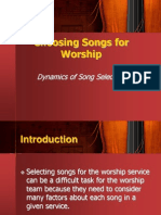 Choosing Songs for Worship