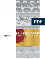 Printed Carpet Installation Guidelines