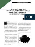 Moluscos Spondylus Strombus y COnus, Su Significado en Las Sociedades Andinas