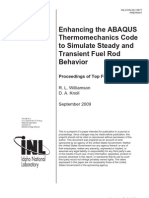 Enhancing the ABAQUS  Thermomechanics Code  to Simulate Steady and  Transient Fuel Rod  Behavior