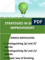 Strategies in Speech Improvement (2)