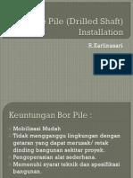 Bore Pile Installation