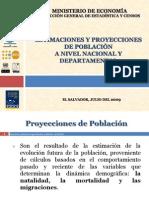Proyecciones Poblacion El Salvador-Julio2009