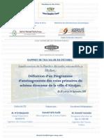 fluidité de trafic urbain  Abidjan-Rapport  TFE kik