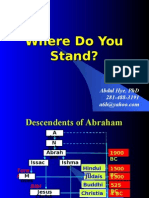 Where do you Stand - Islam