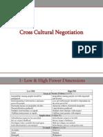 Cross Cultural Negotiation