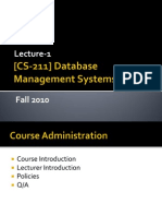 [Lecture-1] Introduction to Databases