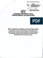 Reglamento General de Estudiantes del Sistema de Educación Pública de Puerto Rico (8115), aprobado el 8 de diciembre de 2011
