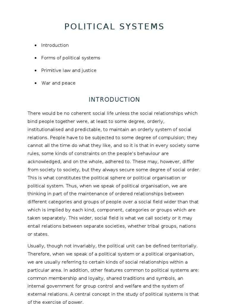 The political system of society: the concept, structure, classification 16