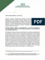 Carta Circular del Programa de Ciencia 12-2011-2012