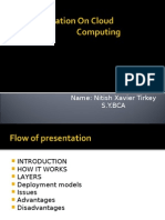 A Presentation on Cloud Computing