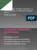 1. strategi terampil bicara