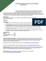 Dev Motion Pct II:1930-1960 - FTS 008 OL1 - Course Syllabus