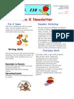 Prek Newsletter 08-09