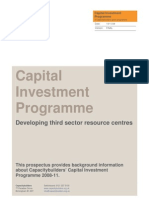 Capacity Builders - Capital Investment Programme