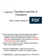 Laplace Transform and the Z-Transform