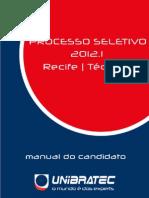 Manual Do Candidato 2012.1 Tecnico