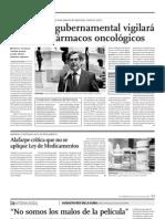 NOTICIA - COMISION GUBERNAMENTAL VIGILARÁ PRECIOS DE FÁRMACOS ONCOLÓGICOS
