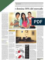 NOTICIA - UN PROVEEDOR DOMINA EL 50% DEL MERCADO