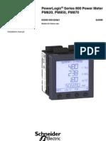 Medidor Electrico Analizador de Redes Pm800 Shneider