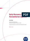 Early Recovery in Humanitarian Appeals (HPG, March 2010)