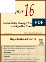 16 Productivity Through Management and Quality Control