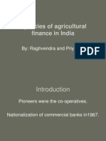 Agencies of Agricultural Finance in India