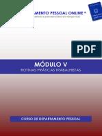 CURSO DE DEPARTAMENTO PESSOAL - 6ª EDIÇÃO 2015