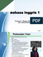 Bahasa Inggris 1 - Pertemuan 1