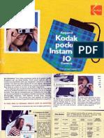 Kodak instamatic Pocket 10 Manuel de l'Appareil