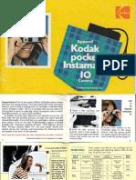 Kodak instamatic Pocket 10 Camera Manual