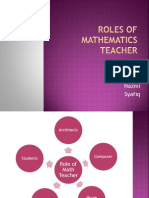 Roles of Mathematics Teacher