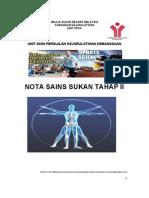 Sains Sukan Tahap II 2012