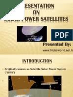 Solar Power Satellites ppt