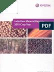 India Raw Material Report