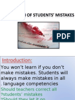 Correction of Students Mistakes (Edited)