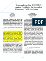 Throughput and Delay Analysis of the IEEE 802.15.3 CSMA-CA Mechanism Considering the Suspending Events in Unsaturated Traffic Conditions