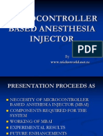 Micro Cntrl Based Anesthesia Injectr
