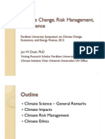 Climate Change, Risk Management, and Science (DASH presentation, Fordham 2012)