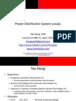 TaoHong_PowerDistributionSystemLosses