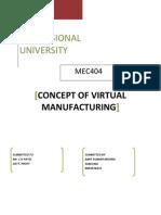 Virtual Manufacturing Synopsis