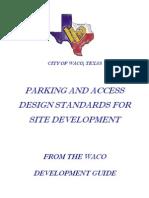 Parking Access Design Standards Handbook 2010