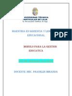 Maestría  en Gerencia y  Liderazgo Educacional.